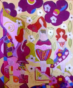 Chez Rosalie Aubignan modelage terre sculpture art Aubignan peinture toile acrylique couleur
