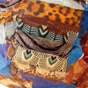 Chez Rosalie Aubignan modelage terre sculpture art Aubignan collage abat jour