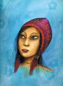 Illustration acrylique Eva Garçon Eva Créa & Tralala