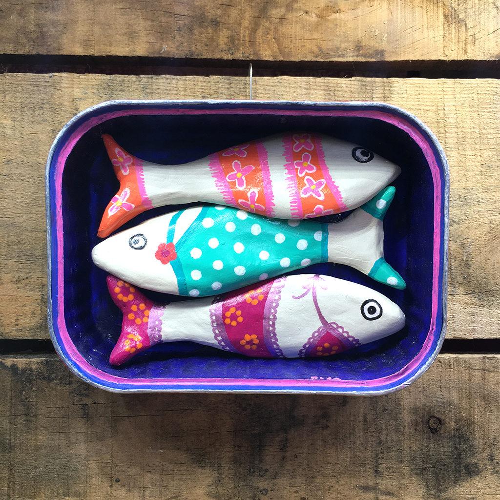 sardine terre en boite Eva Garçon artiste plasticienne chez Eva Célia & Rosalie Aubignan centre artistique et saveurs Vaucluse art bien-être
