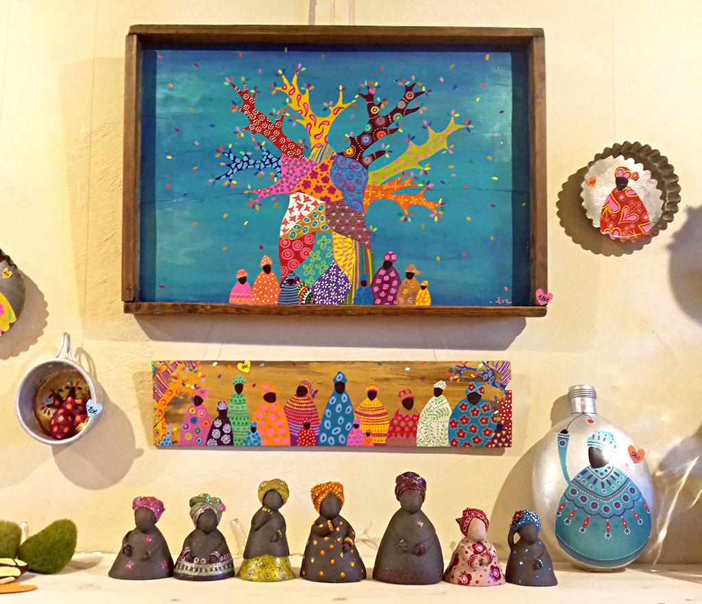 ensemble boubous afrique Eva Garçon artiste plasticienne chez Eva Célia & Rosalie Aubignan centre artistique et saveurs Vaucluse art bien-être