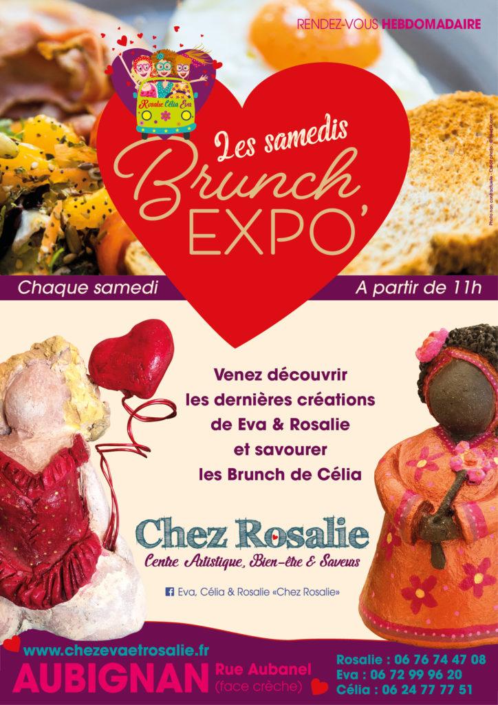 Chez Eva Célia et Rosalie Centre artistique à Aubignan Vaucluse cours stages ateliers peinture dessin modelage dessin raku cuisine expositions événements Brunch